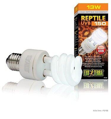 Exo Terra Reptile UVB 150 Desert Compact Bulb 13 Watt, pt-2188 former 10.0
