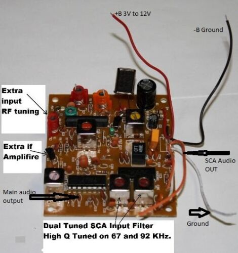 SCA RECEIVER  BOARD FIXED FREQUENCY SCA RECEIVER 67 / 92 sca1 / sca 2