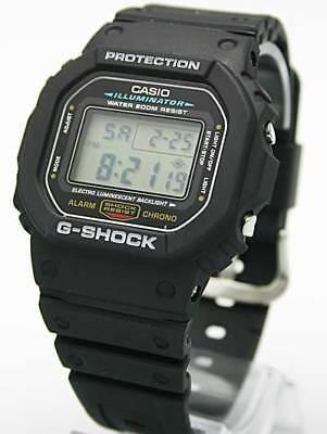 Casio Dw5600e 1V G Shock Mens Black Classic Digital Shock Resistant Sports Watch