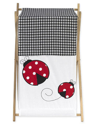 Sweet Jojo Designs Kid Baby Clothes Laundry Hamper for Red Ladybug Bedding -
