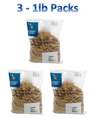 Rubber Bands Size 19 3 12 X 18 X 132 Business Source Bsn15737 1lb - 3 Pack