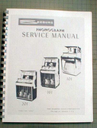 Seeburg 201,161,101 Jukebox manual