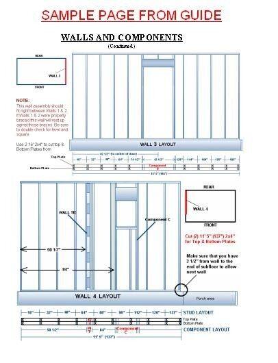 16x24 Cabin w/Loft Plans Package, Blueprints, Material List ...