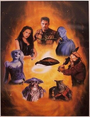 Farscape Lithograph - Total Cast Signed including Ben Browder & Claudia Black