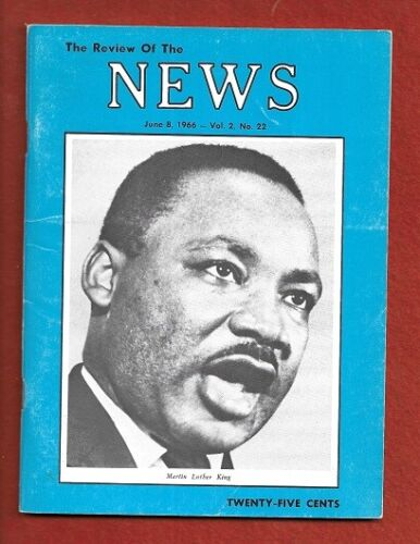 """VINTAGE JUNE 8, 1966 MARTIN LUTHER KING, JR REVIEW OF THE NEWS """" JET"""" MAGAZINE"""