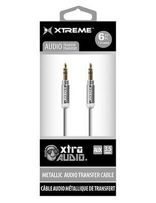Metallic 3.5mm Audio Cable Silver or Black Choose Color XT-XAC90111A12  - Metallic Silver Audio