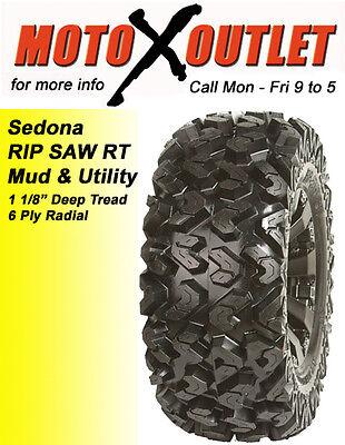 Yamaha Grizzly 600 Tires Sedona Atv Rip Saw Set Of 4 25x8-12 Front 25x10x12 Rear