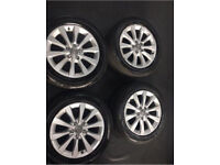 GENUINE AUDI ALLOYS AND TYRES ++ BARGAIN++