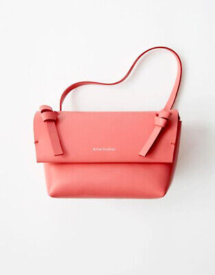 ACNE STUDIOS Mini Leather Crossbody Bag Purse | Bright Pink | New | RRP £320