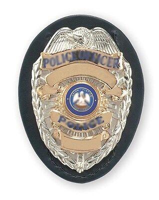 "New Safariland Shield Style Badge Holder Color Black, Plain 2.5""x3.5"" 7350-03-2"