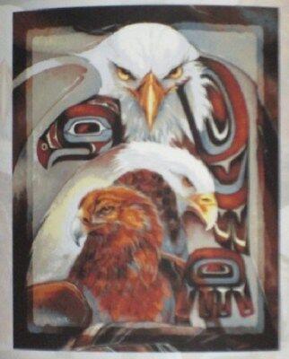 Used, New Eagle Spirit Gift Painting Fleece Throw Blanket American Bald Golden Bergsma for sale  Colorado Springs