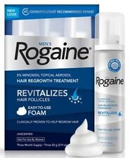 ROGAINE FOR MEN MINOXIDIL FOAM 5% HAIR LOSS TREATMENT 3 MONTH SUPPLY REGAINE
