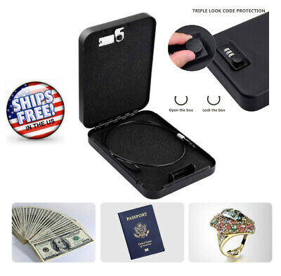 Gun Vault LockBox Car Truck Handgun Pistol Safe Cash Jewelry 3 Digital Lock Code