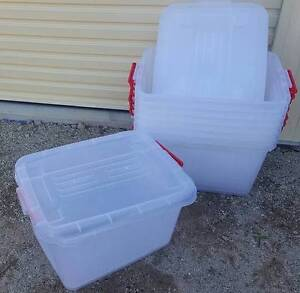 45l tubs with lids Rothwell Redcliffe Area Preview