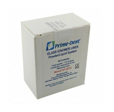 Prime-dent Permanent Glass Ionomer Liner Dental Luting Cement Usa Fda