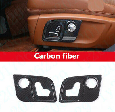 Carbon fiber Inner Seat Handle Switch Panel Cover For Maserati Levante 2017-2019