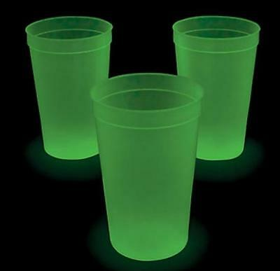 12 Pc Halloween Christmas New Year's Party Extra Large Glow-in-the-Dark Cups