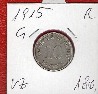 10 PF 1915  G   RAR   J13         ab 5 auktionen portofrei