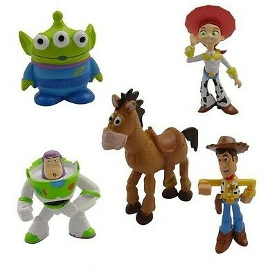 Toy Story Cakes (Toy Story Buzz Woody Playset 5 Figure Cake Topper * USA SELLER* Toy Doll)