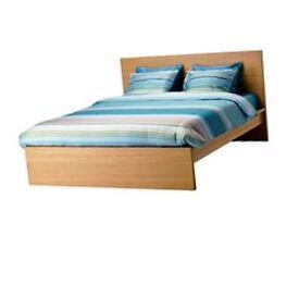 Ikea Malm Double Bed Oak Veneer