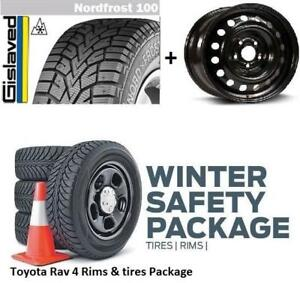 2014 2015 2016 2017 2018 Toyota RAV4 winter Tire n rims package 225/65R17 225 65 17 225/6517