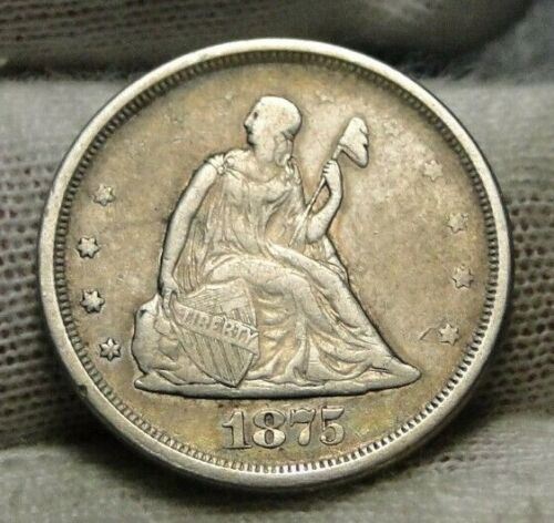 1875S Twenty Cent Piece 20 Cents -  Nice Coin, Free Shipping (9130)