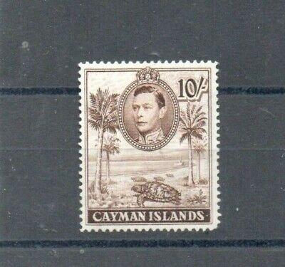 A Good Cat Value unused Cayman Islands George VI 10/- issue