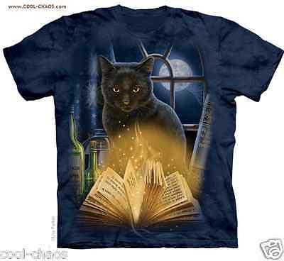 Mystische Hexen Schwarze Katze T-Shirt / Tränke Keltisch Katzen Fantasie Kitty