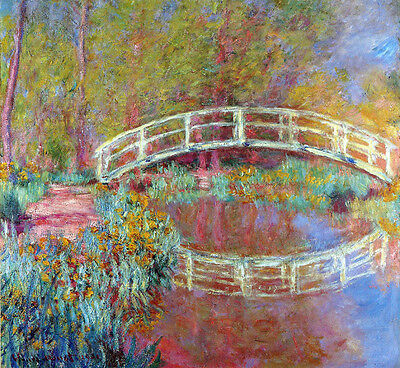 Claude Monet - The Japanese Bridge In Monets Garden   - 24'  CANVAS