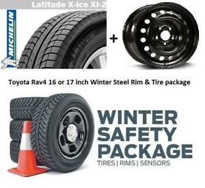 17 inch Toyota RAV4 winter Tire n rims package 225/65R17 $700 installed
