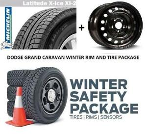 2008 to 2019 DODGE GRAND CARAVAN WINTER RIM & TIRE PACKAGE 17 inch 225/65R17 225 65 17 2256517 225/6517