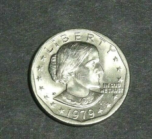 "1979 -P SBA ""SUSAN B ANTHONY"" $1 -  VARIETY NEAR DATE (WIDE RIM) BU UNCIRCULATED"