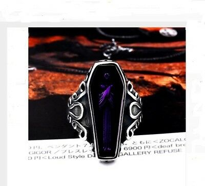 Vampire Diaries Gothic Ring Purple Mens Women Vampire Goth Vintage Wedding Band