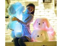 Led pillow soft stuffed dog £15 plus £4 for delivery