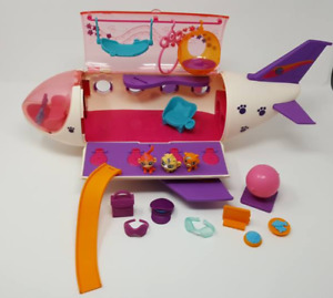 Littlest Pet Shop Jet Airplane Retired Play Set