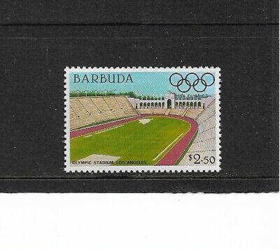 1984 Barbuda - Olympic Games Stadiums - Los Angeles - Single - Unhinged Mint..