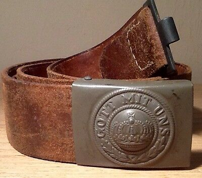 Imperial German, Late WW1 Prussian Enlisted Mans Buckle & Maker/Unit Marked Belt