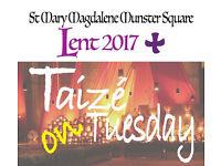 Taizé on Tuesday meditation prayer service Camden, St Mary Magdalene, Munster Square
