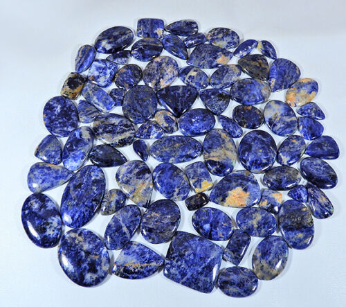 NATURAL BLUE SODALITE MIX CABOCHON LOOSE GEMSTONE WHOLESALE LOT 250 To 5000Cts.
