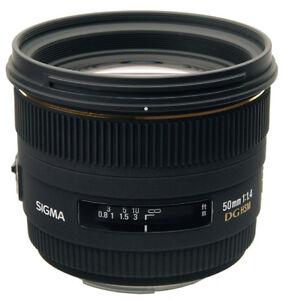 Sigma 50mm F1.4 EX DG HSM lens for Nikon