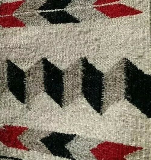 Navajo Rug Saddle Blanket Throw Antique Native American Indian Weaving 1930