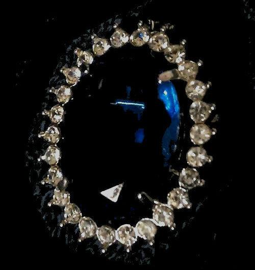 Vintage Royal Hope Crystal Diamond Gem Gemstone Jewel Brooch Pin Pendant Estate