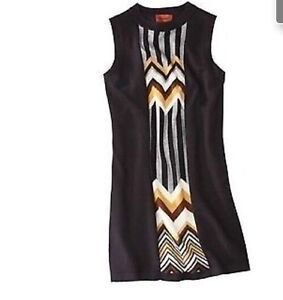 Missoni for Target Women's Sleeveless Black Panel Sweater Dress - Small