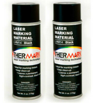 Thermark Double Pack 6oz Spray Cans For C02 Laser Engraver Metal Cermark