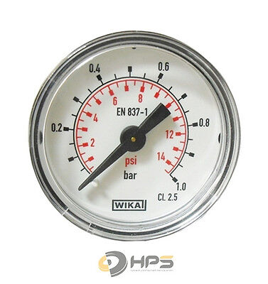 Wika Manometer (WIKA Vakuum  Manometer waagerecht Ø50mm 1/4Zoll Anschluss verschiedenene Typen)