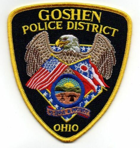 GOSHEN POLICE DISTRICT OHIO OH NEW PATCH SHERIFF