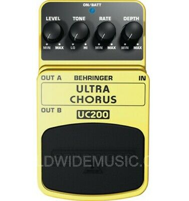 Behringer UC200 Stereo Chorus Effect Guitar / Keyboard Effects Pedal / Stomp Box