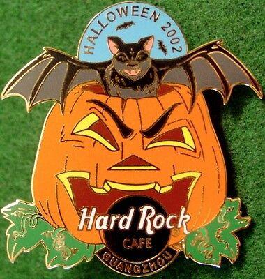 Hard Rock Cafe GUANGZHOU 2002 HALLOWEEN PIN Bat Out of Crazy Pumpkin HRC #15127](Guangzhou Halloween)