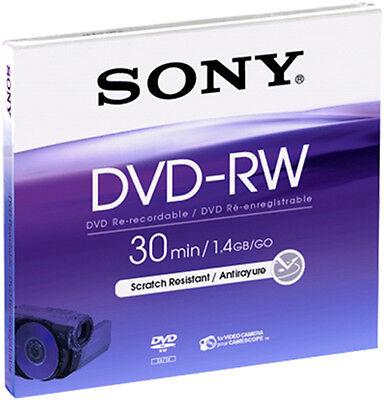 10 Sony DVD-RW mini 8cm 30Min 1,4GB Jewelcase wiederbeschreibbar für Camcorder 4 Gb Case