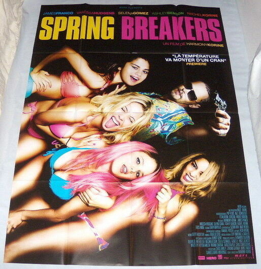 Spring breakers james franco vanessa hudgens selena gomez large french poster